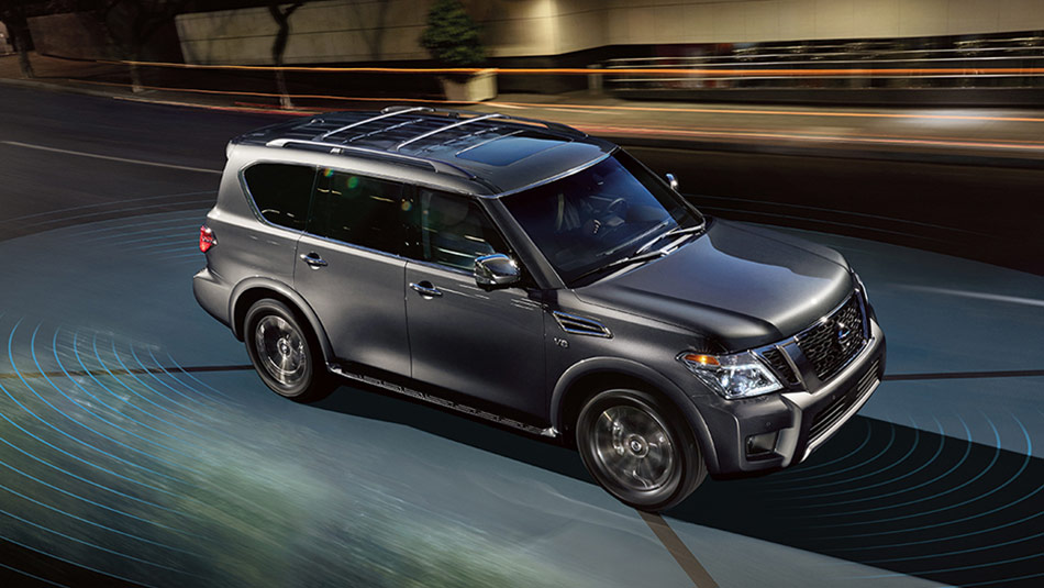 Nissan Armada Platinum® shown in Gun Metallic