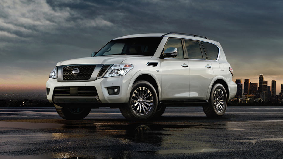 Nissan Armada® Platinum Reserve shown in Pearl White