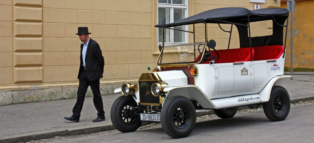 Ford T from 1905, Replica with Electric Drive, Tourist Attraction, Zagreb, Croatia