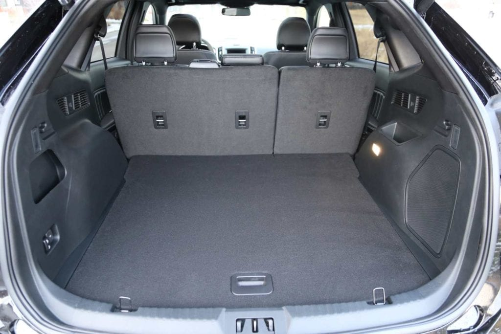 view of the trunk in the 2019 Ford Edge ST in Agate black