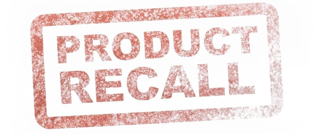 A stock photo of of a Safety Notice Recall stamp.