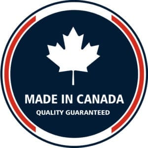 Made in Canada 1 quality stamp. Vector Illustration
