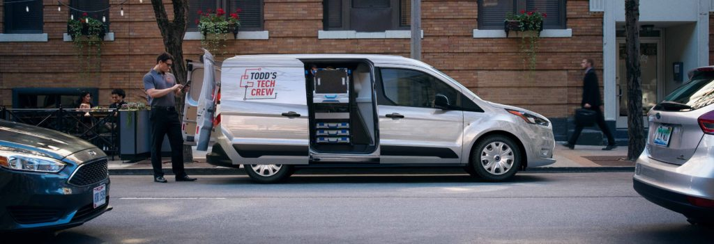 2019 ford transit connect with doors open
