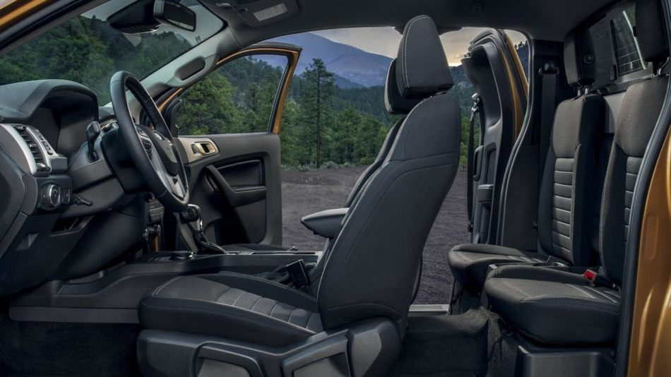 The stylish, but functional interior of the 2019 Ford Ranger