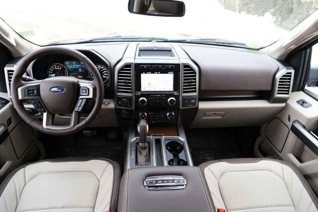 The front dash of the Ford F-150 Limited