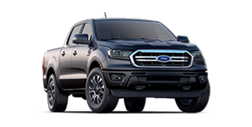 A three-quarter front profile of a 2019 Ford Ranger Lariat