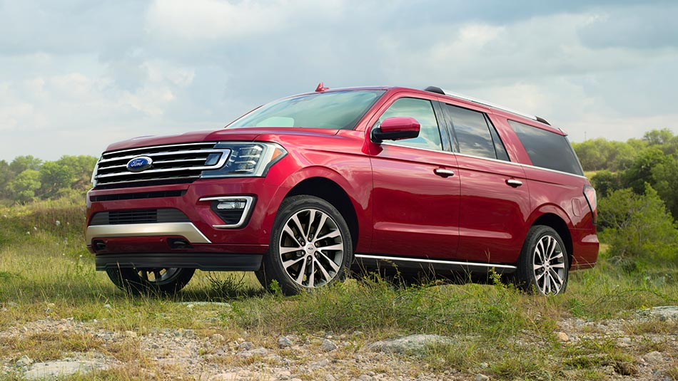 2019 Ford Expedition parked in rural grassland setting