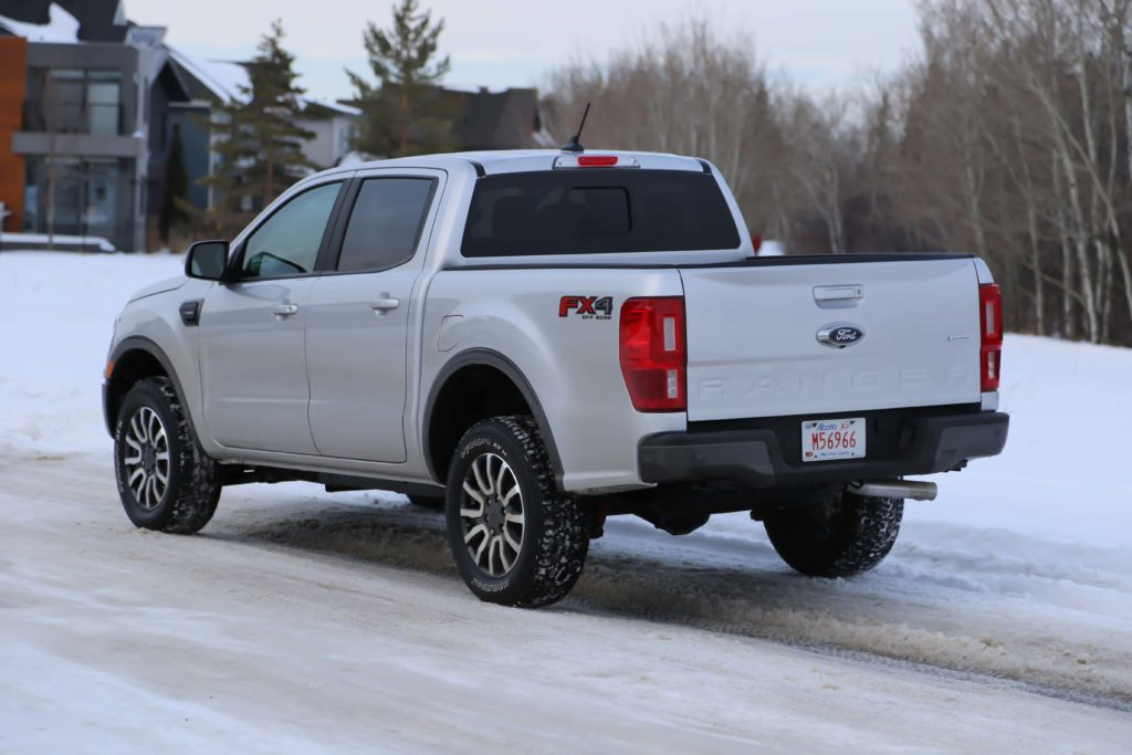 A rear quarter view of the 2019 Ford Ranger
