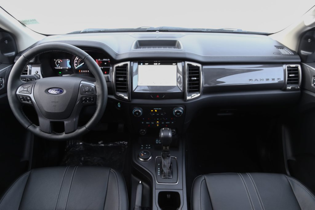 A wide view of the 2019 Ford Ranger dashboard
