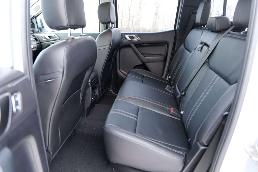 The rear seats in the 2019 Ford Ranger