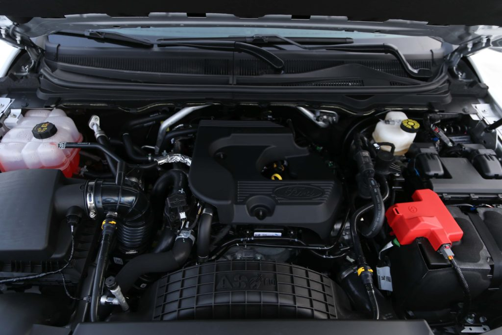 The engine of the 2019 Ford Ranger