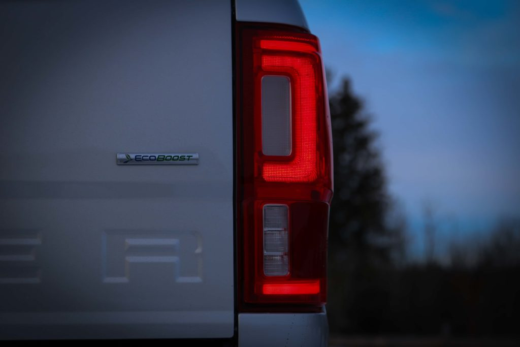 The tail lights on the 2019 Ford Ranger