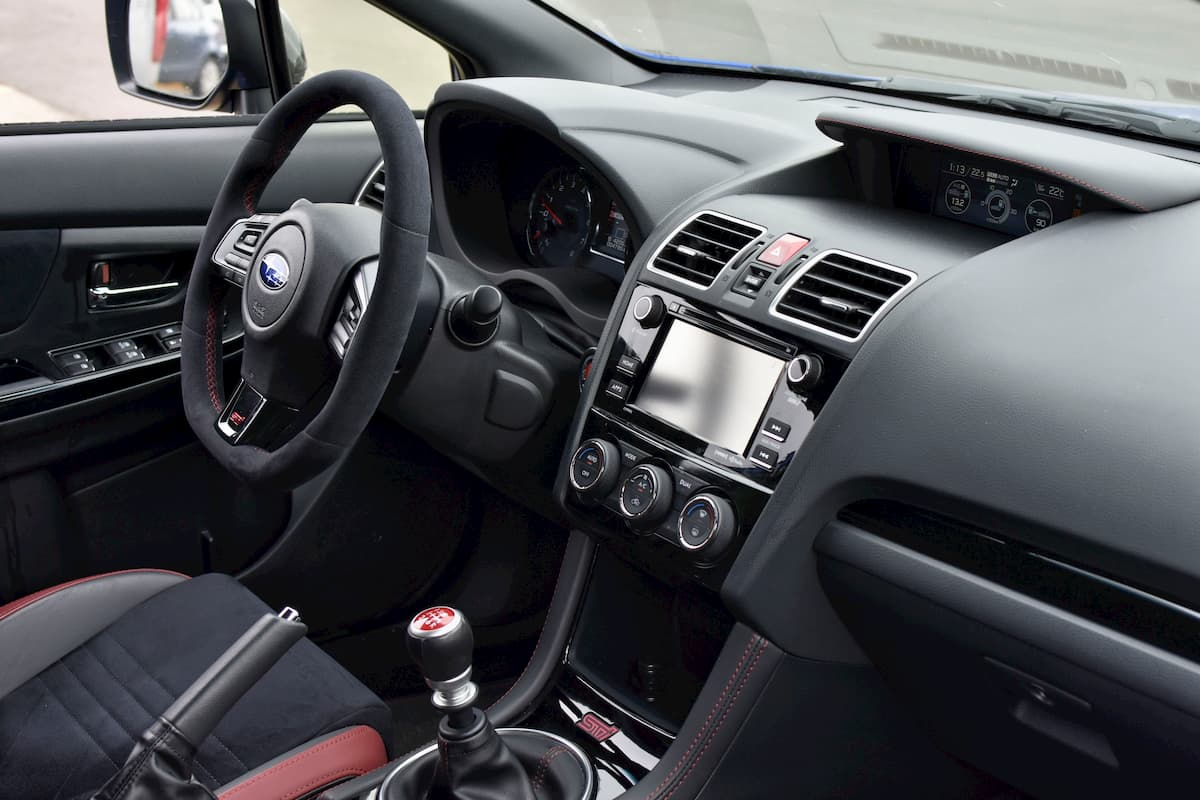 Subaru WRX STi Interior Front Panel View Shot