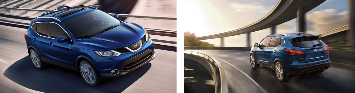 Nissan Qashqai Front and Back View Exterior