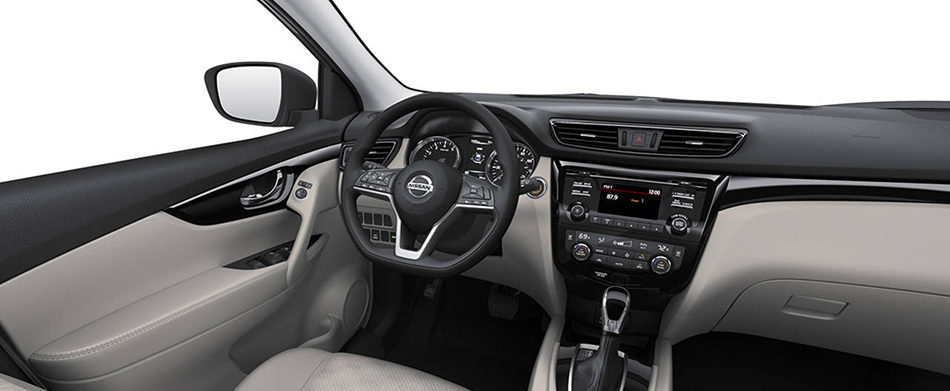 grey cloth interior in the 2019 nissan qashqai
