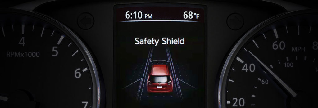 2020 nissan rogue's safety shield display