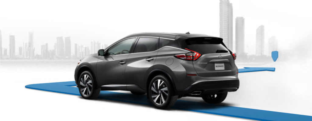 animated blue line leading from nissan murano to indicate nissanConnect navigation
