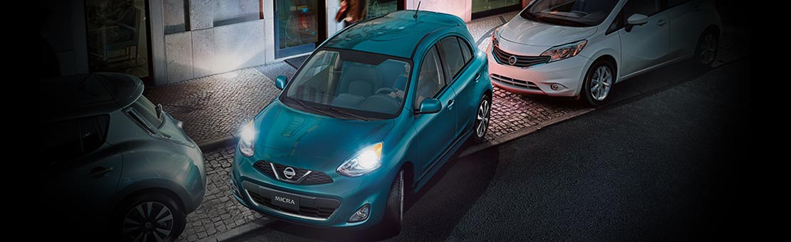 2019 Nissan Micra SR exterior shown in Caspian Sea