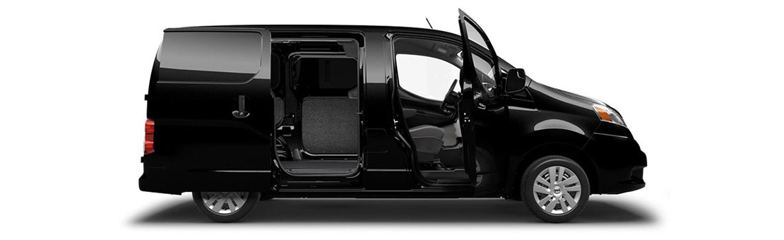 2019 NV200 Compact Cargo side view with doors open