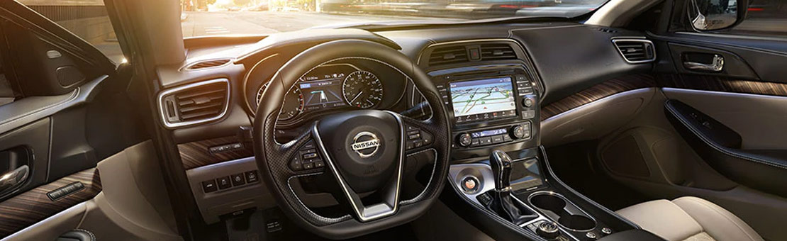 2020 Nissan Maxima Platinum shown in Cashmere Beige Leather