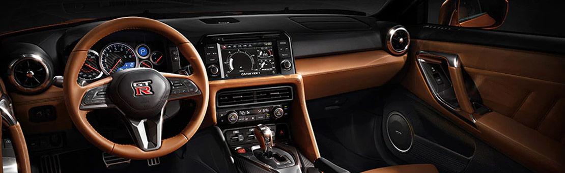 2020 Nissan GT-R Premium Edition with Premium Interior Package shown in Rakuda Tan