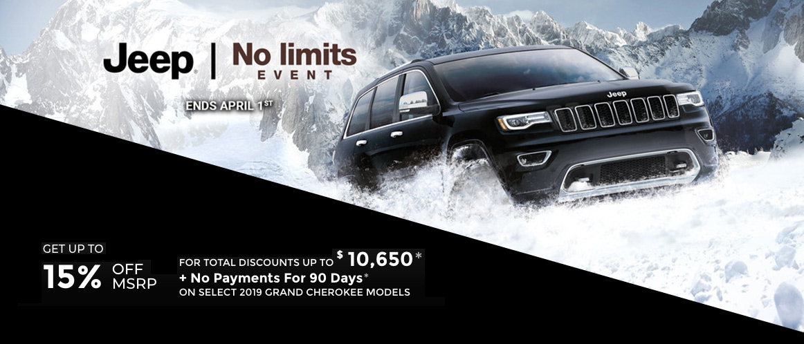 March Jeep incentive