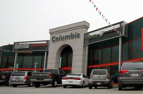 Columbia Chrysler dealer building