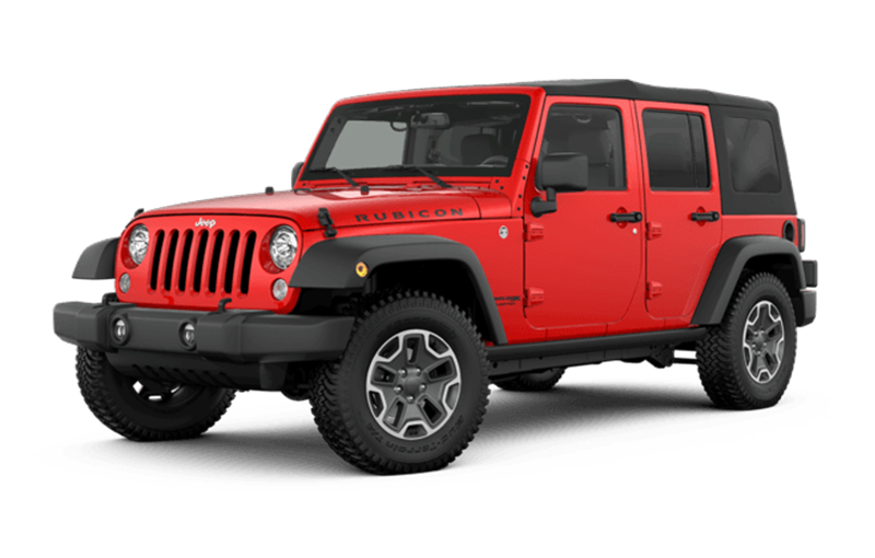Red Jeep Wrangler Rubicon