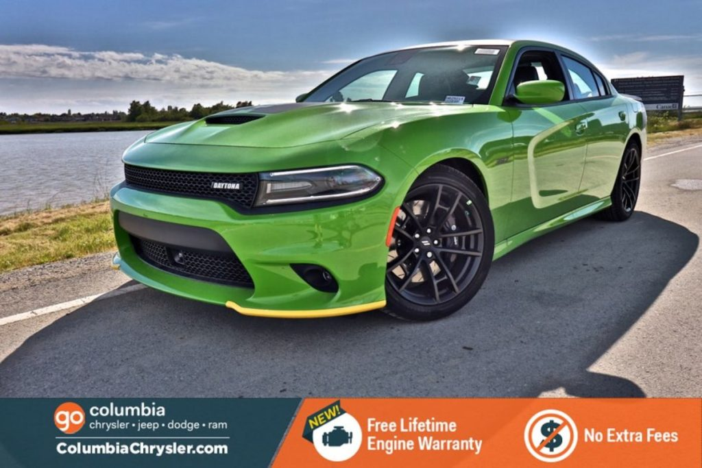 Vibrant Green Dodge Charger