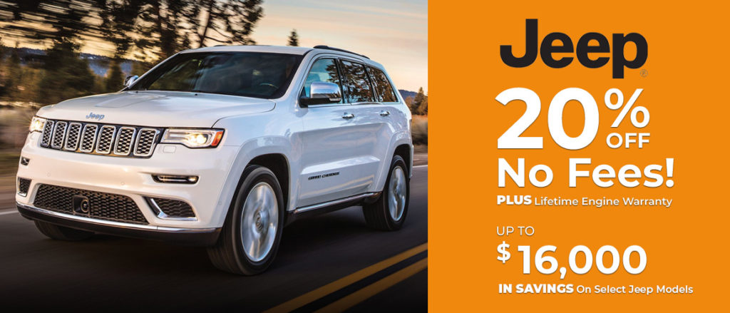 Jeep 20% Off on select Jeep Models