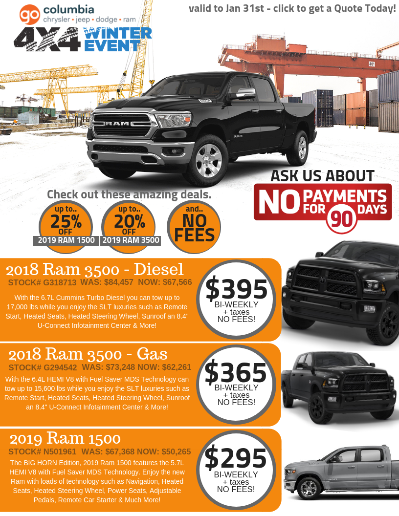 Truck Deals from Columbia Chrylser