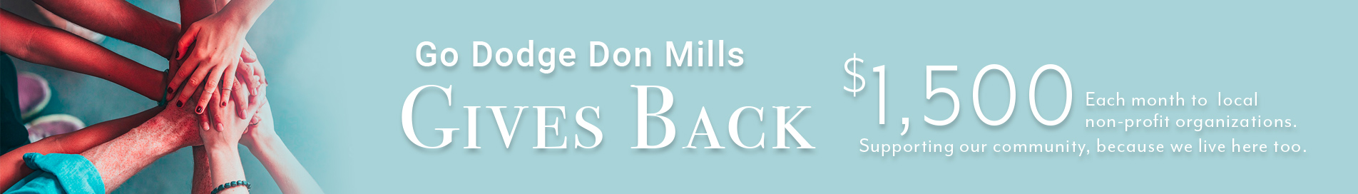 Go Dodge Don Mills Gives Back Banner
