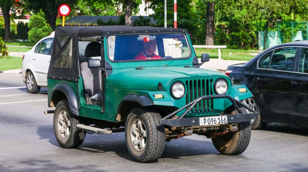 The Willys CJ civilian Jeep, first introduced in 1945