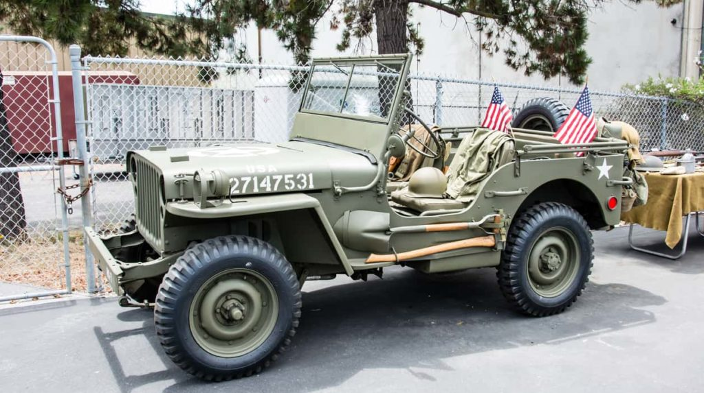 The 1941 Willys Model MB, made for WW2.