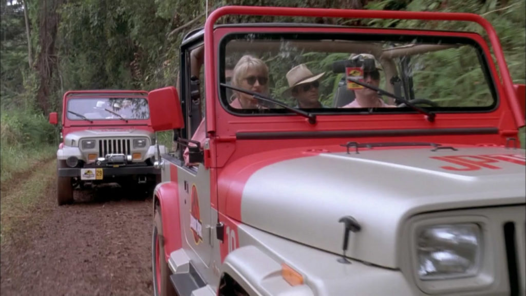 Jeeps constantly turn up in popular culture, including 1993's Jurassic Park