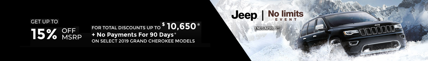 March Jeep offer