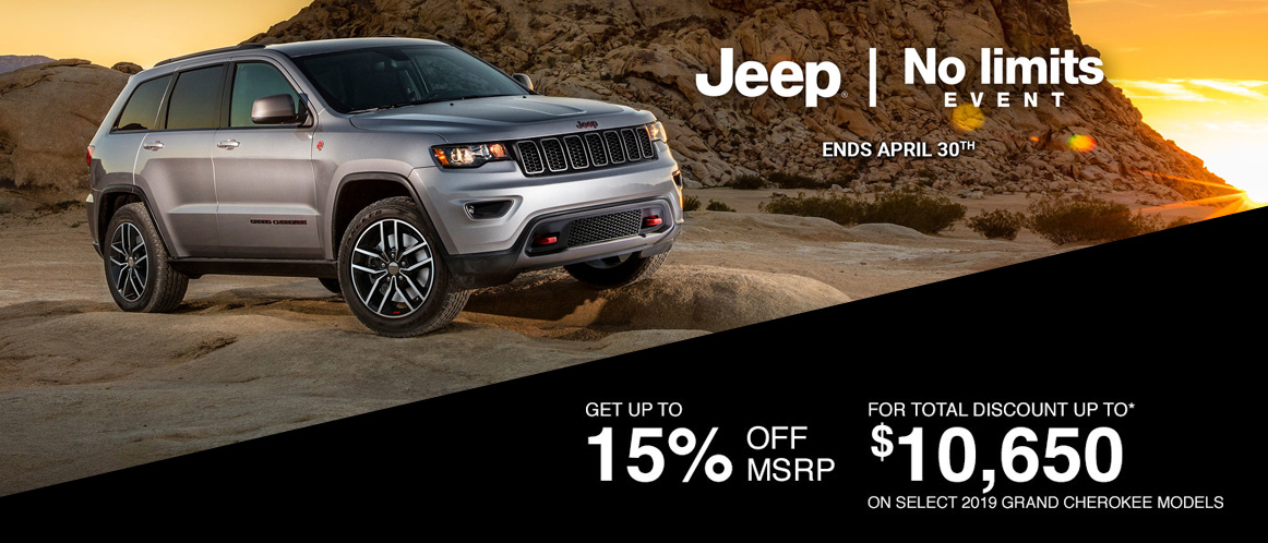 April Jeep offer