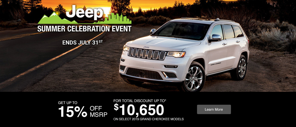 July Jeep offer