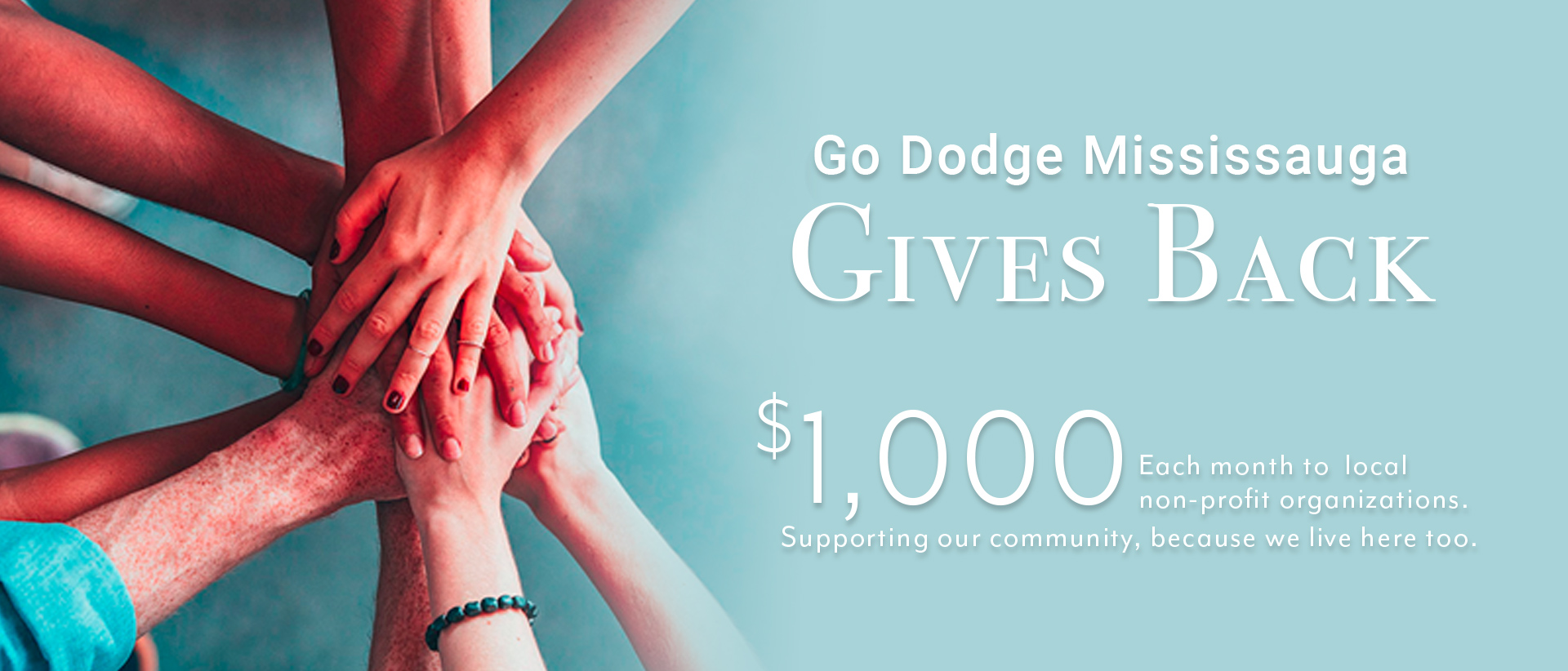 Dodge Mississauga | Gives Back Banner