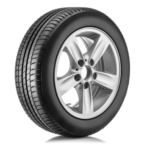 single tire on a white background