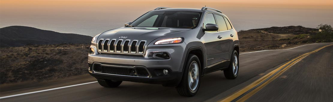 Jeep Cherokee on the road