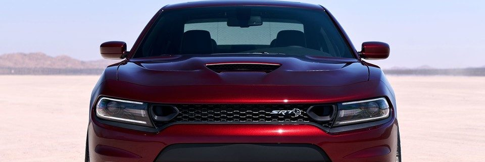 2019 Dodge Charger front end in the desert