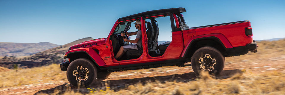 2020 Jeep Gladiator with the doors off