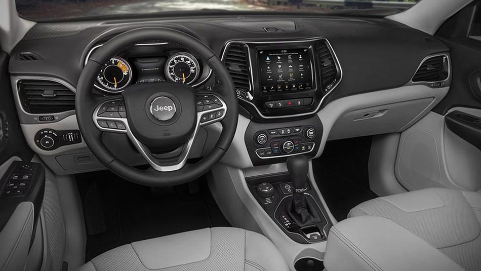 Jeep Cherokee 2019 interior dashboard steering wheel
