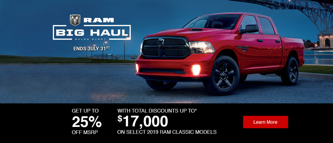 July Ram offer