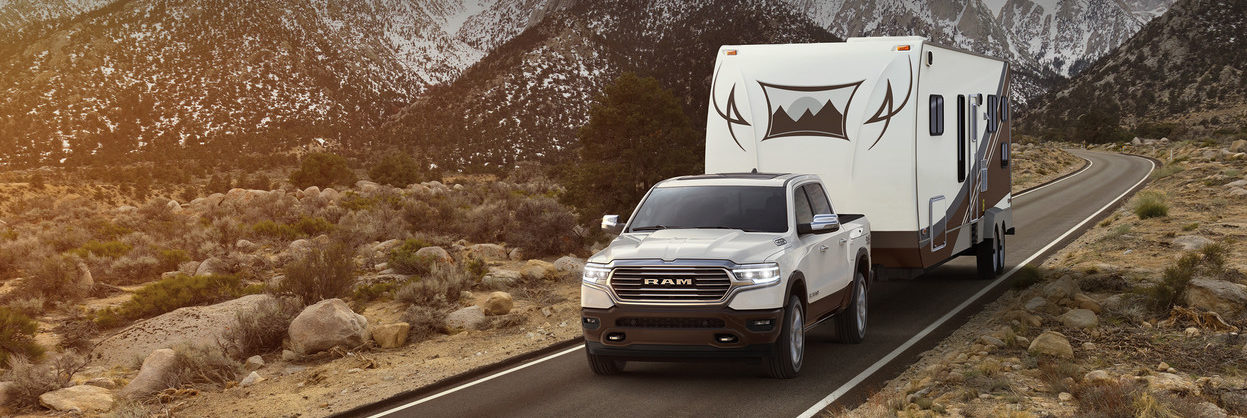 2019 Ram 1500 hauling a larger camping trailer