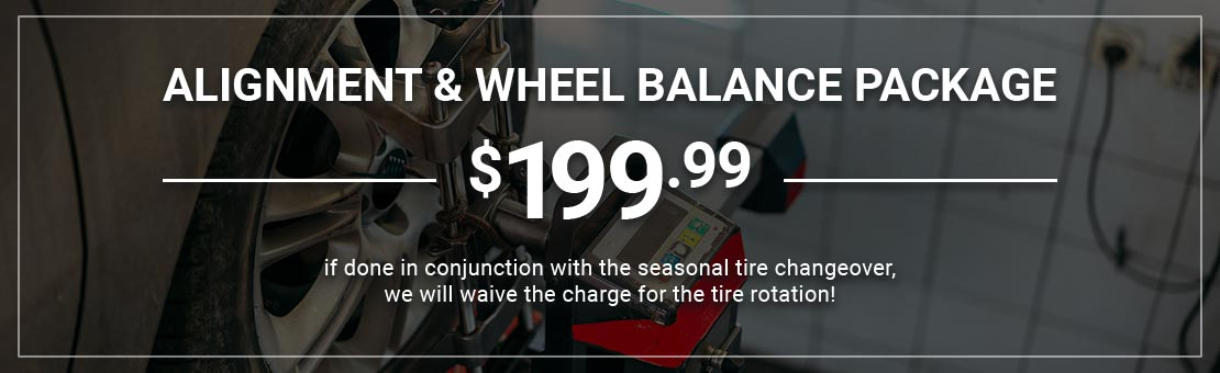 Wheel Alignment and Balance offer