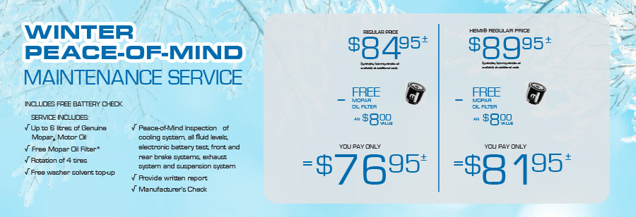 Mopar Winter Peace-of-mind Maintenance Service