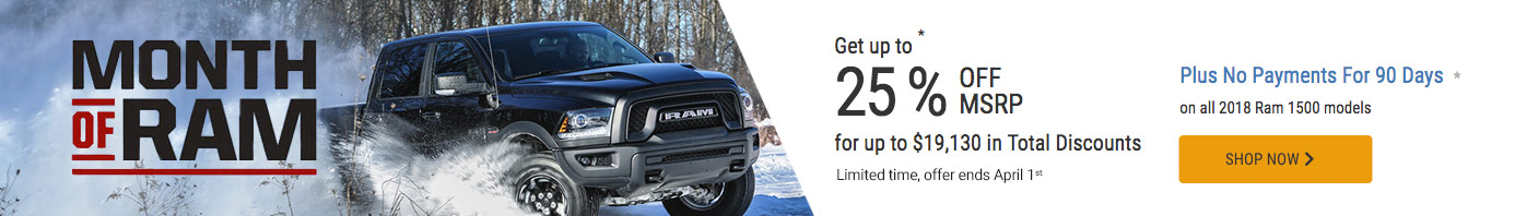 RAM March 2019 OEM Offer