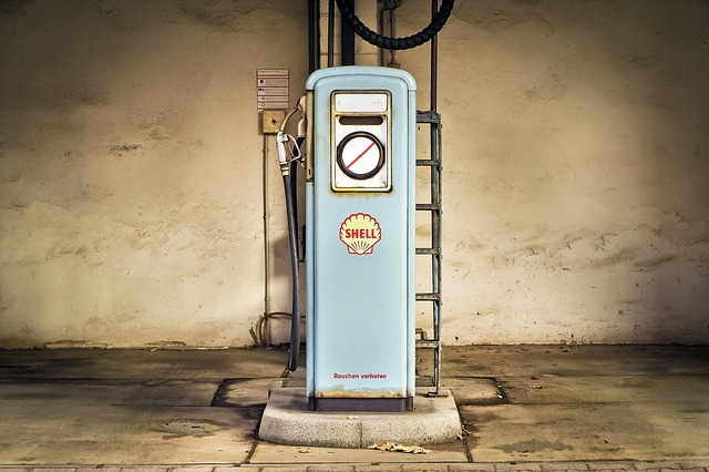 Old Shell Gas Pump
